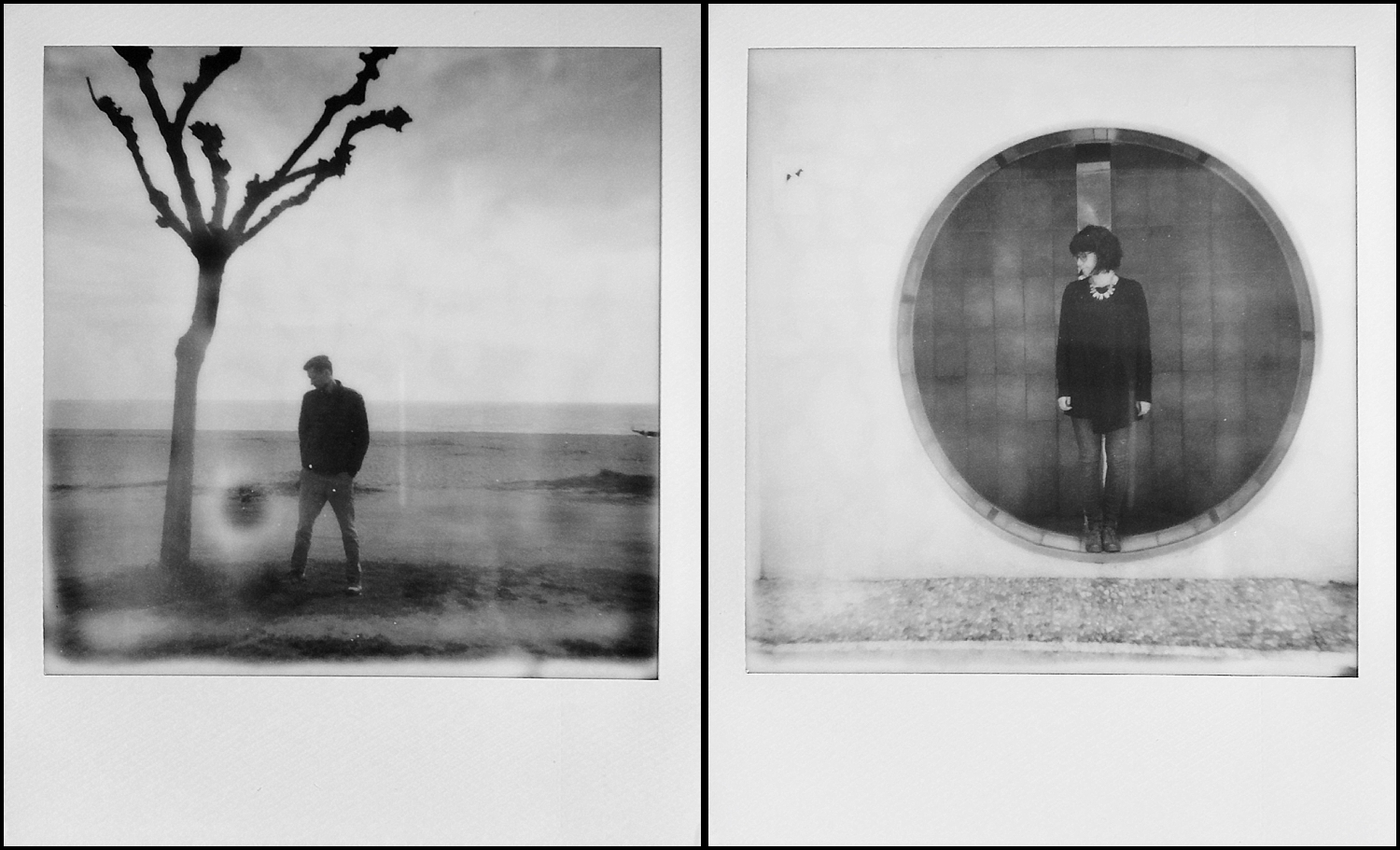 Polaroids from The Rural Workshop Barcelona on film from the Impossible Project