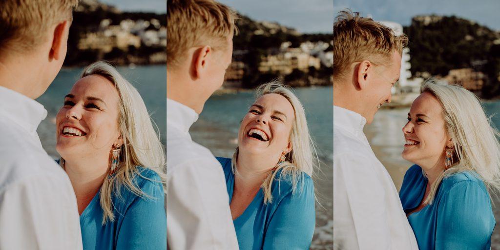 Couple photoshoot on the beach in Sant Elm Mallorca