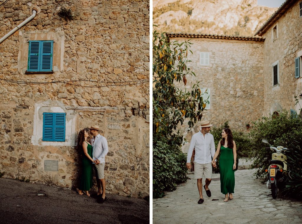 Sunset couple photoshoot Deia Mallorca